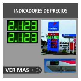 Indicadores LED para postos de gasolina