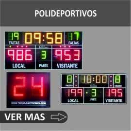 Marcadores electrónicos Polideportivos