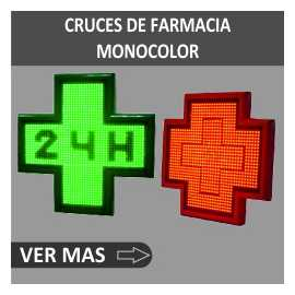 Cruces de Farmacia Monocolor