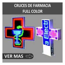 Cruces para farmacias con capacidad FULL COLOR