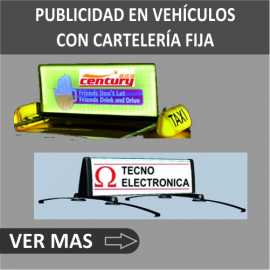 Publicidad en vehículos con carteles fijos