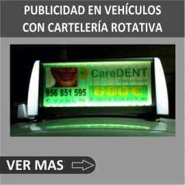 Publicidad en vehículos con sistemas electrónicos