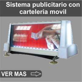 Sistema publicitario con carteleria movil