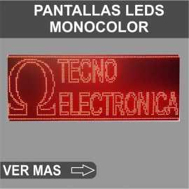 Pantallas monocolor
