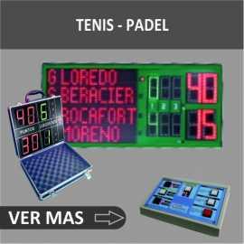 Placares eletrônicos e tênis de remo