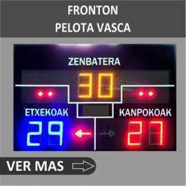 Scoreboards for Basque pelota and fronton