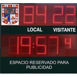 Scoreboard ao ar livre com 9 dígitos