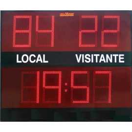 Outdoor scoreboard with 8 digits
