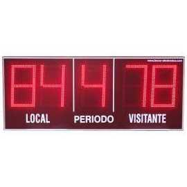 Scoreboard ao ar livre com 5 dígitos