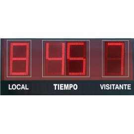 Outdoor scoreboard with 4 digits with clock