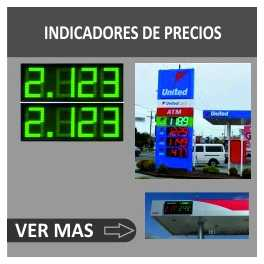 Displays de leds para gasolineras